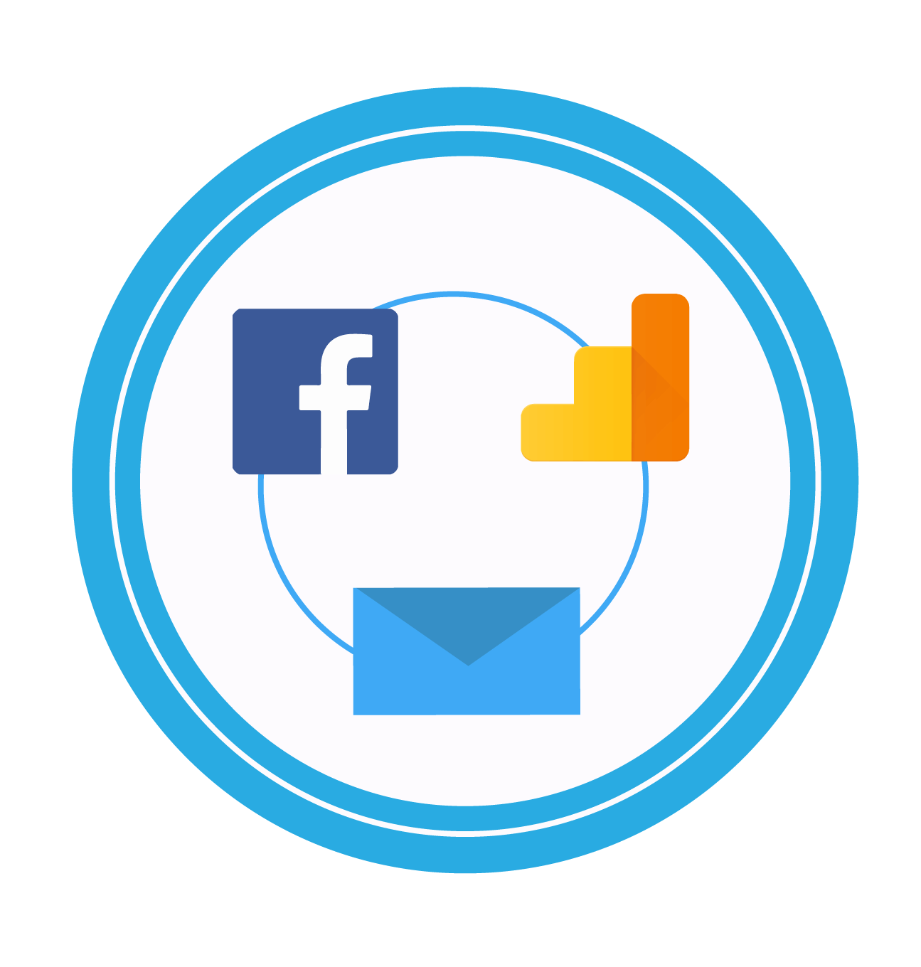 Integração da campanha de e-mail marketing com o Facebook e Google Analytics